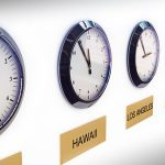 14877763 - timezone clocks showing different times of world locations